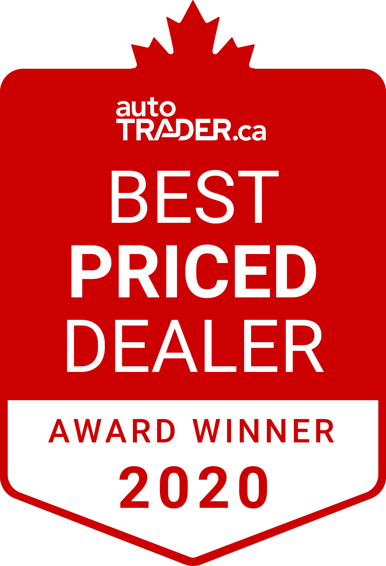 2020 Best priced dealer Award Winner